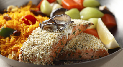 Baked Salmon - with Citrus Crust