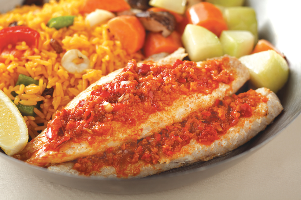 Grilled Red Fish Fillet with Peri Peri Sauce