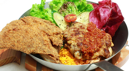 Grilled peri-peri Chicken with Swordfish Collar